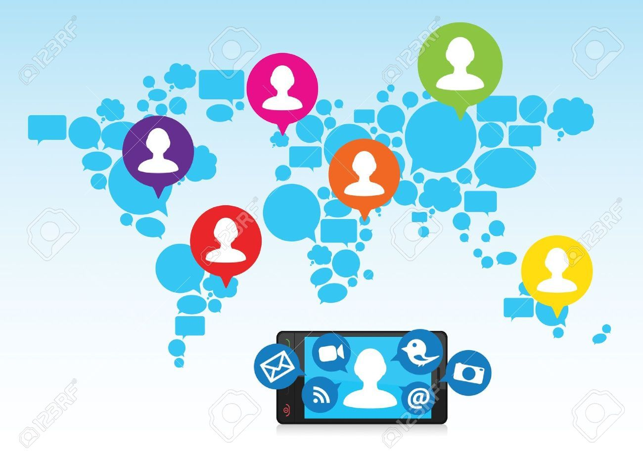 'Social media sites help to connect to people worldwide
