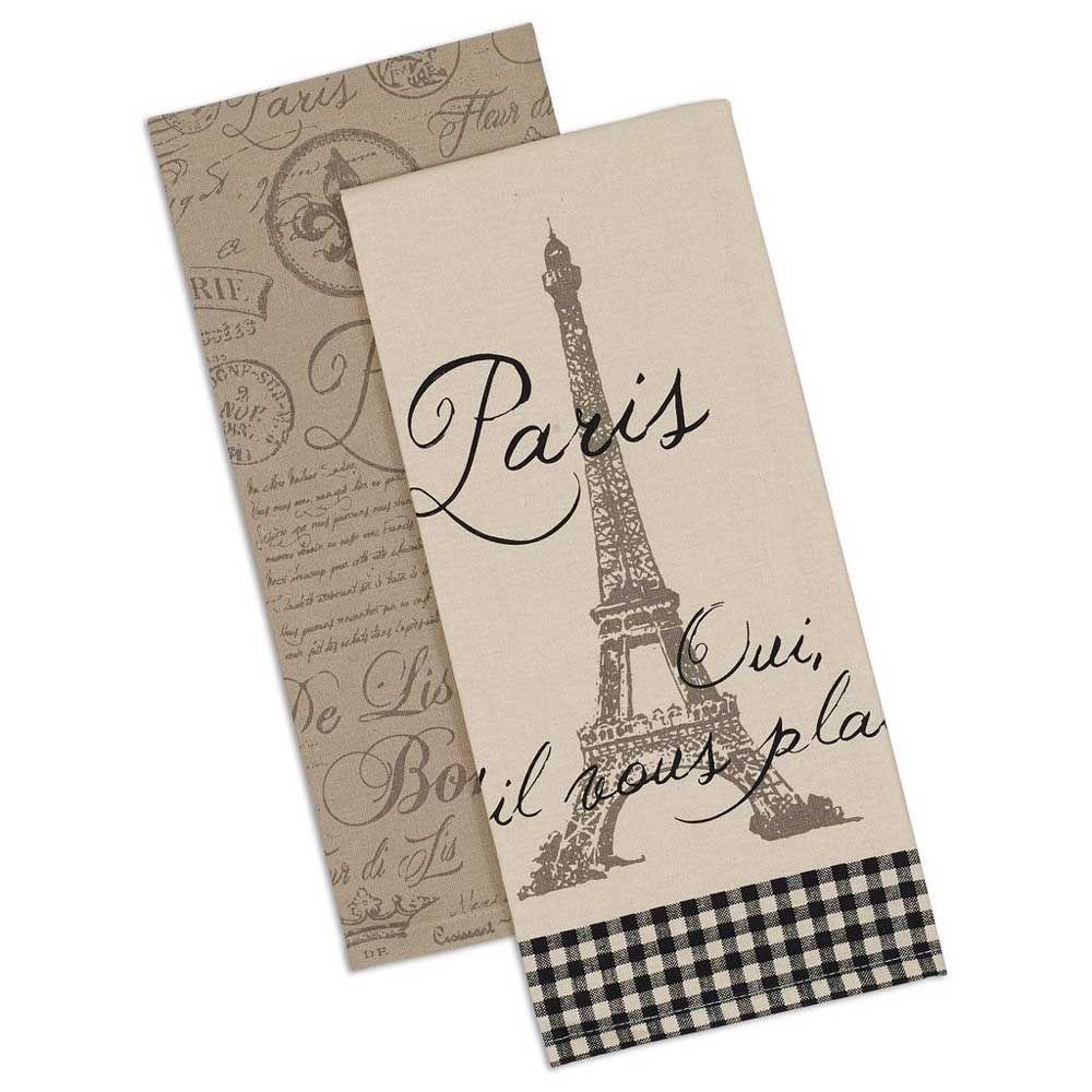 Yes Please Parisian Dishtowels Set Of 2 World Travel