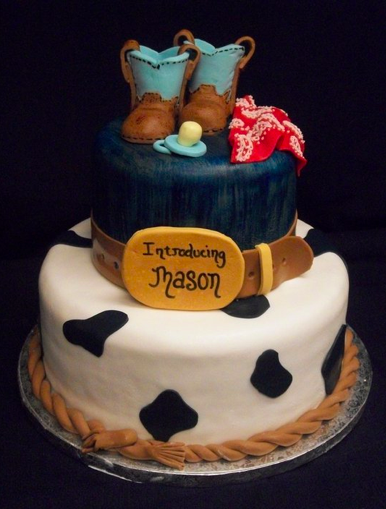 High Quality Piece A Cake Bakery Western Baby Shower Cake Crazy For Design 386x509