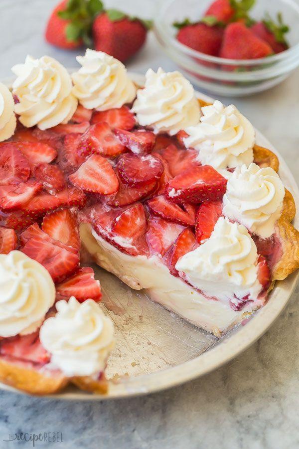 Dieses Rezept für Erdbeer-Frischkäse-Torte hat eine hausgemachte ... -  #dieses #eine #erdbee... #recipeforpiecrust