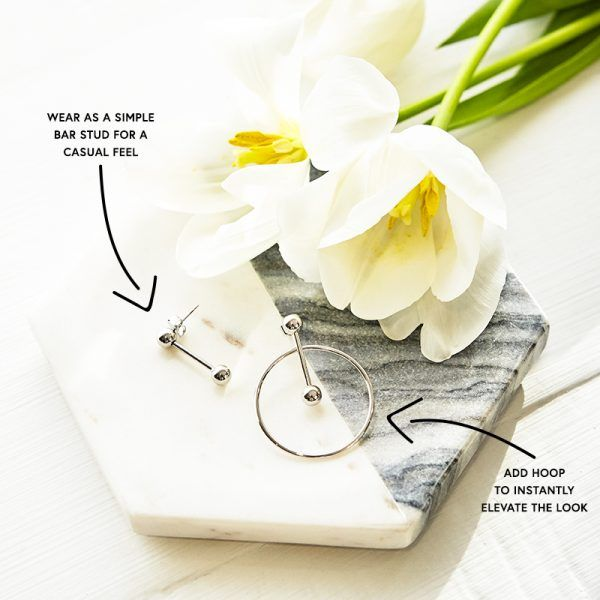 Lend Us Your Ears - Valued at $62, this au courantpair isversatile in more ways than one. Box of Style members are able to choose between silver andgold finishes for a fully personalized look.