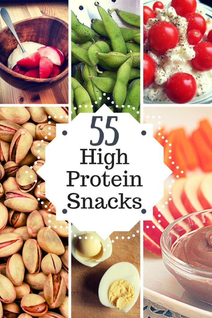 55 High Protein Snacks • PDF Infographic High