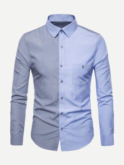 d75f9d9dde39 Shop Men Color Block Shirt online. SheIn offers Men Color Block Shirt & more  to fit your fashionable needs.
