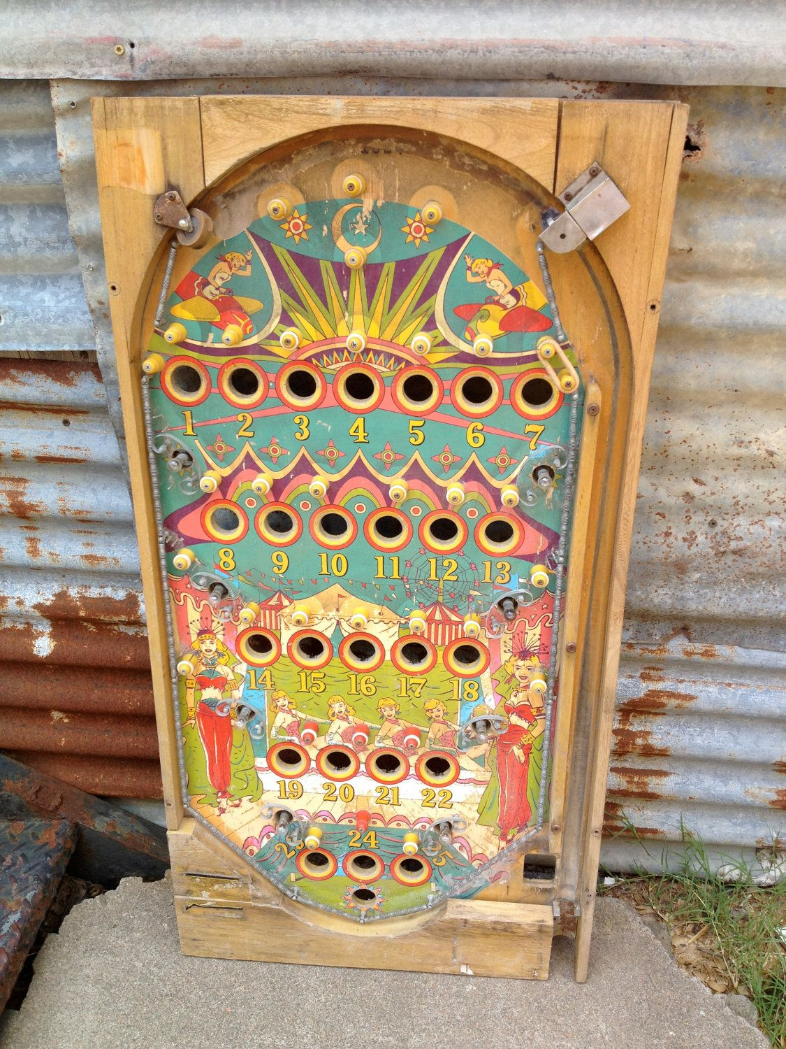 When I Found This Vintage Wooden Pinball Casing I Was