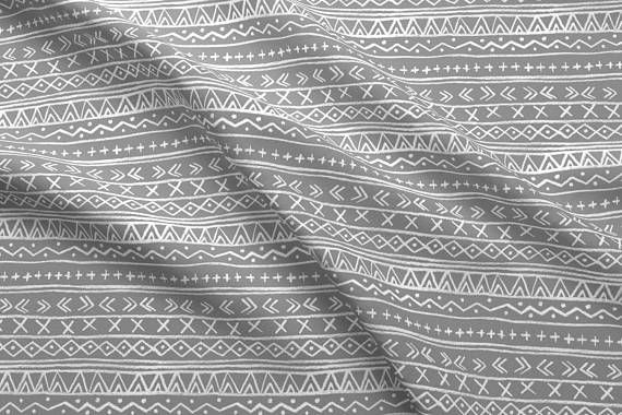 Gray Tribal Stripe Fabric By The Yard Nursery