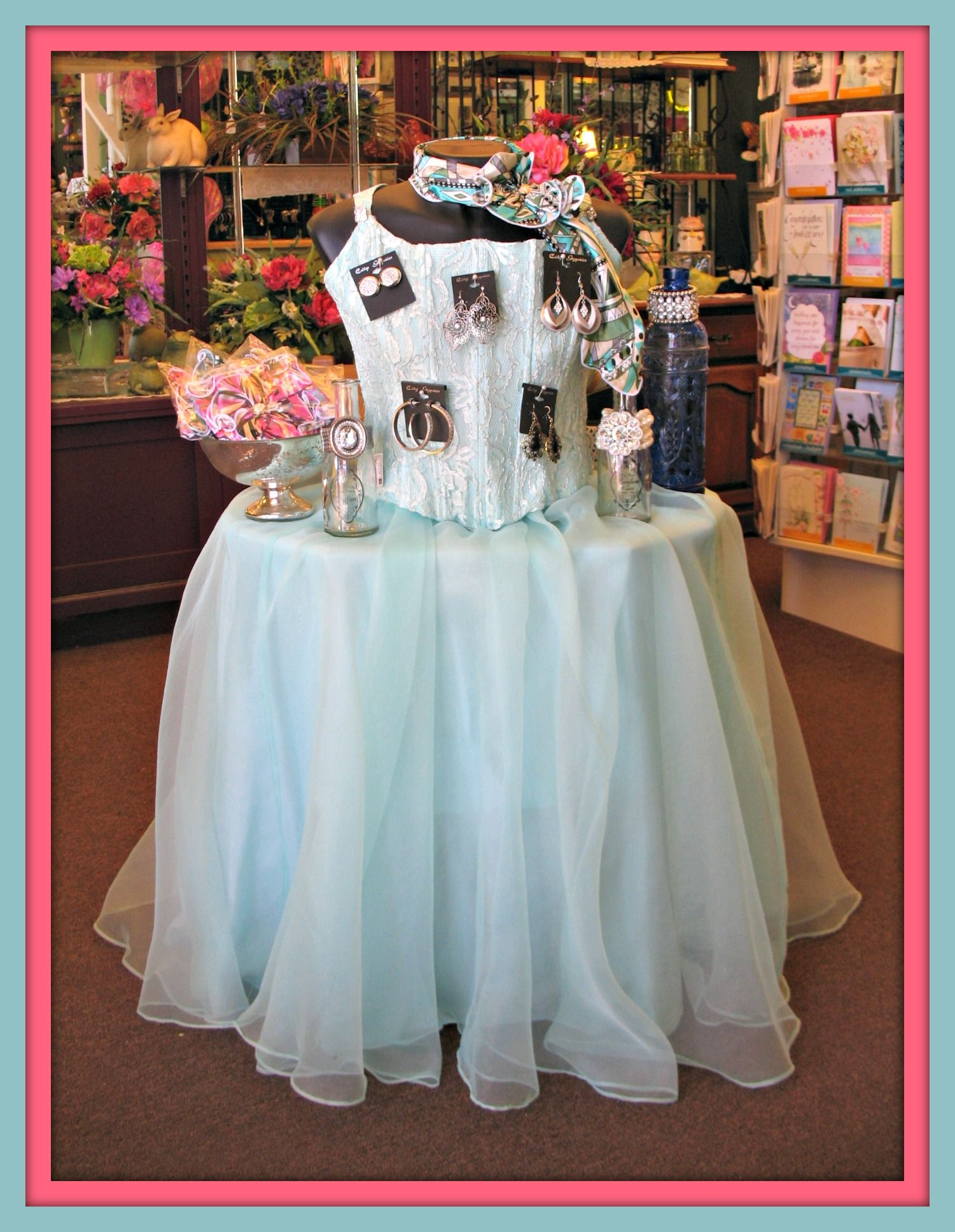 Old Prom Dress from the Thrift Store Great display for Jewelry and ...