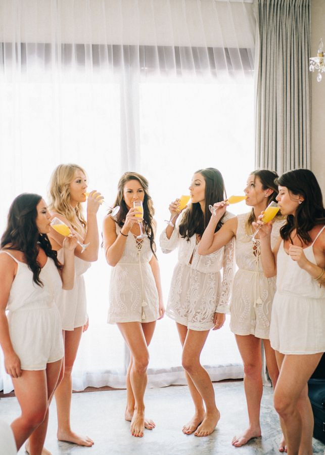 Alternatives To Get Ready Robes For Your Bridesmaids Http Www Stylemepretty Com 2017 05 0 Bridesmaid Get Ready Outfit Bridesmaid Pictures Bridesmaid Rompers