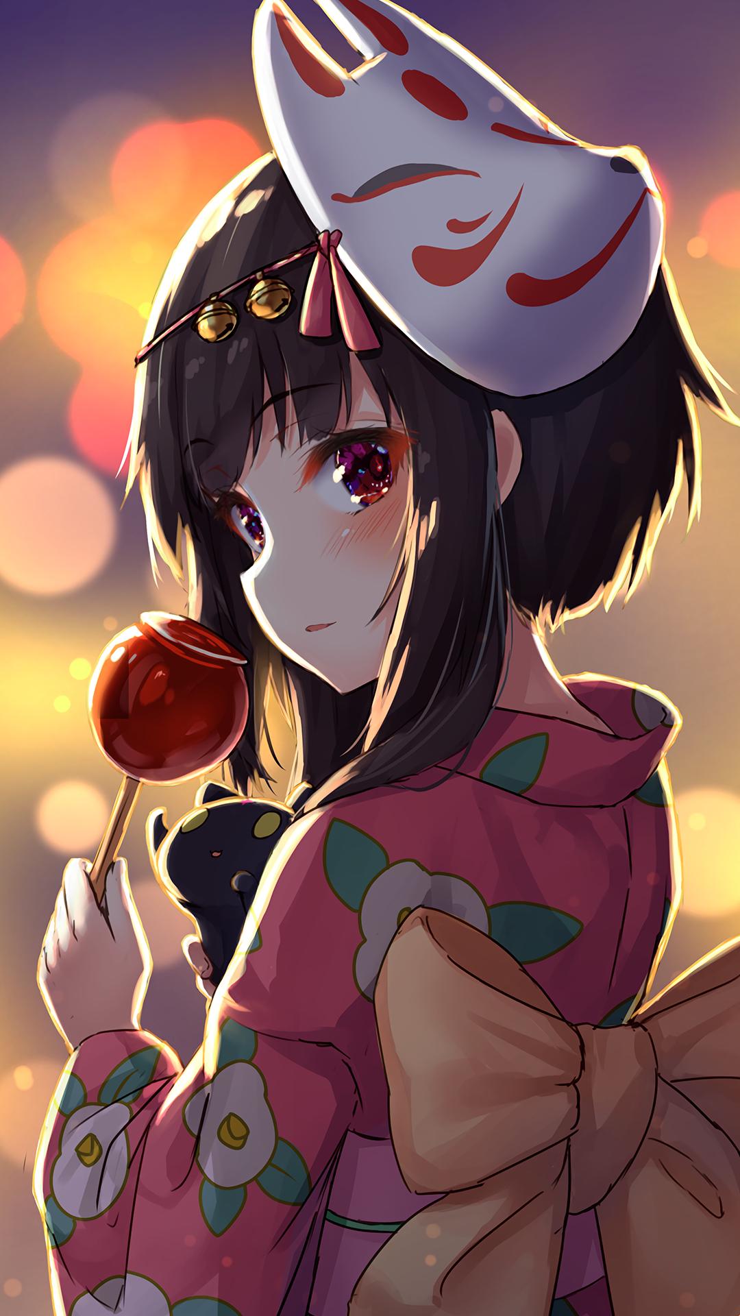 Starry Night Megumin Konosuba 1080x2160 Anime Wallpaper Cute Anime Character Thicc Anime