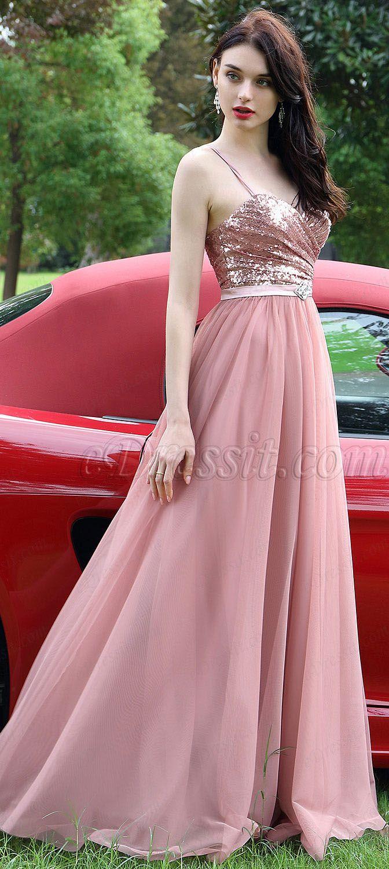 Spaghetti Straps Sequins Evening Dress #eDressit | Vestidos ...