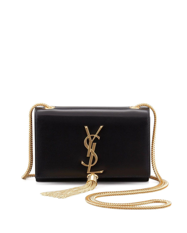 Saint Laurent Cassandre Small Tassel Crossbody Bag Black Tassel Crossbody Bag Black Cross Body Bag Crossbody Bag