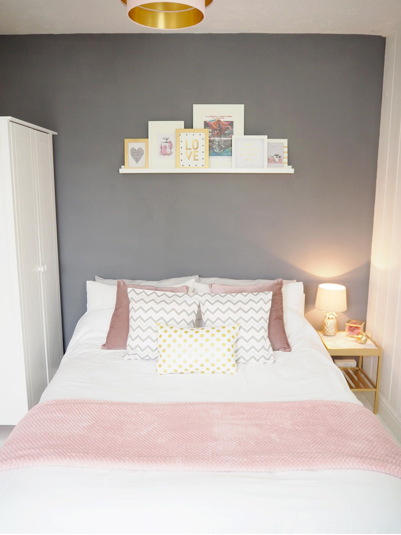 aec680ac7b5 PINK   GREY BEDROOM MAKEOVER - Bang on Style