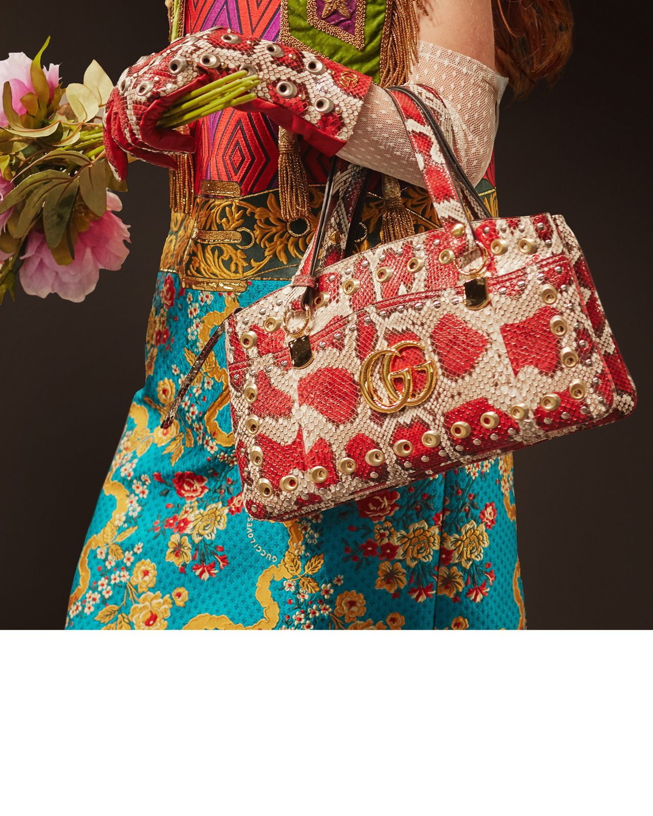 "ca458eac451 gucci  ""An ornate jacquard dress from Gucci Cruise 2019 by Alessandro  Michele features a"