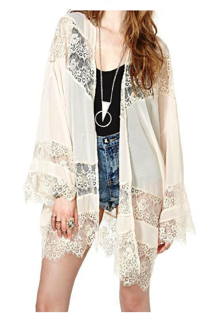 Wholesale Jacket Coat Cardigan Summer Women Lace Shawl Tassels ...