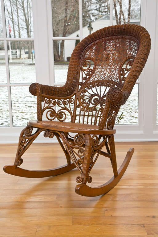 Antique Victorian Wicker Rocker In 2020 Victorian Wicker Wicker Rocking Chair Antique Wicker