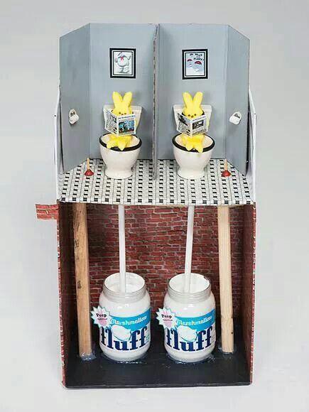 Toilet fluff | Peeps crafts, Marshmallow peeps, Easter peeps