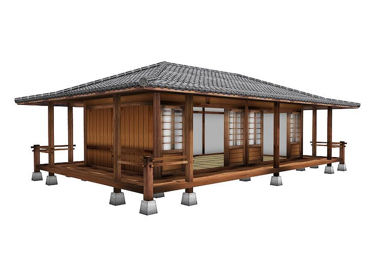 Image result for prefabricated japanese tea house buildings plans - casa estilo japones
