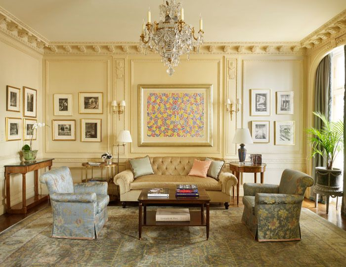 Thomas Jayne Design for 998 Fifth Avenue: One side of the music room ...