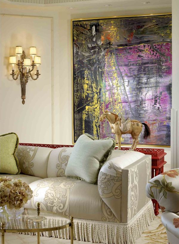 Lovely Sconce And Gorgeous Fringe On Sofa 1 From Access