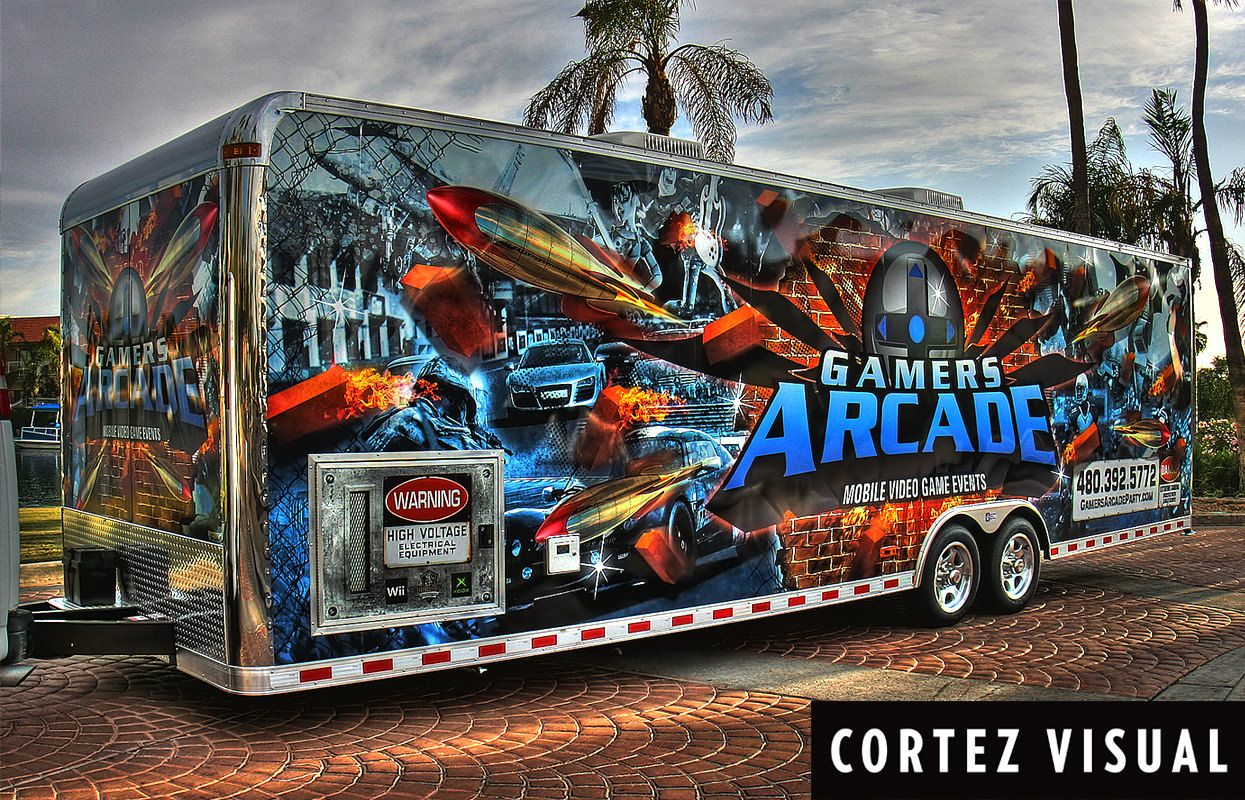 Pin by Cortez Visual on Truck Wraps (With images) Arcade