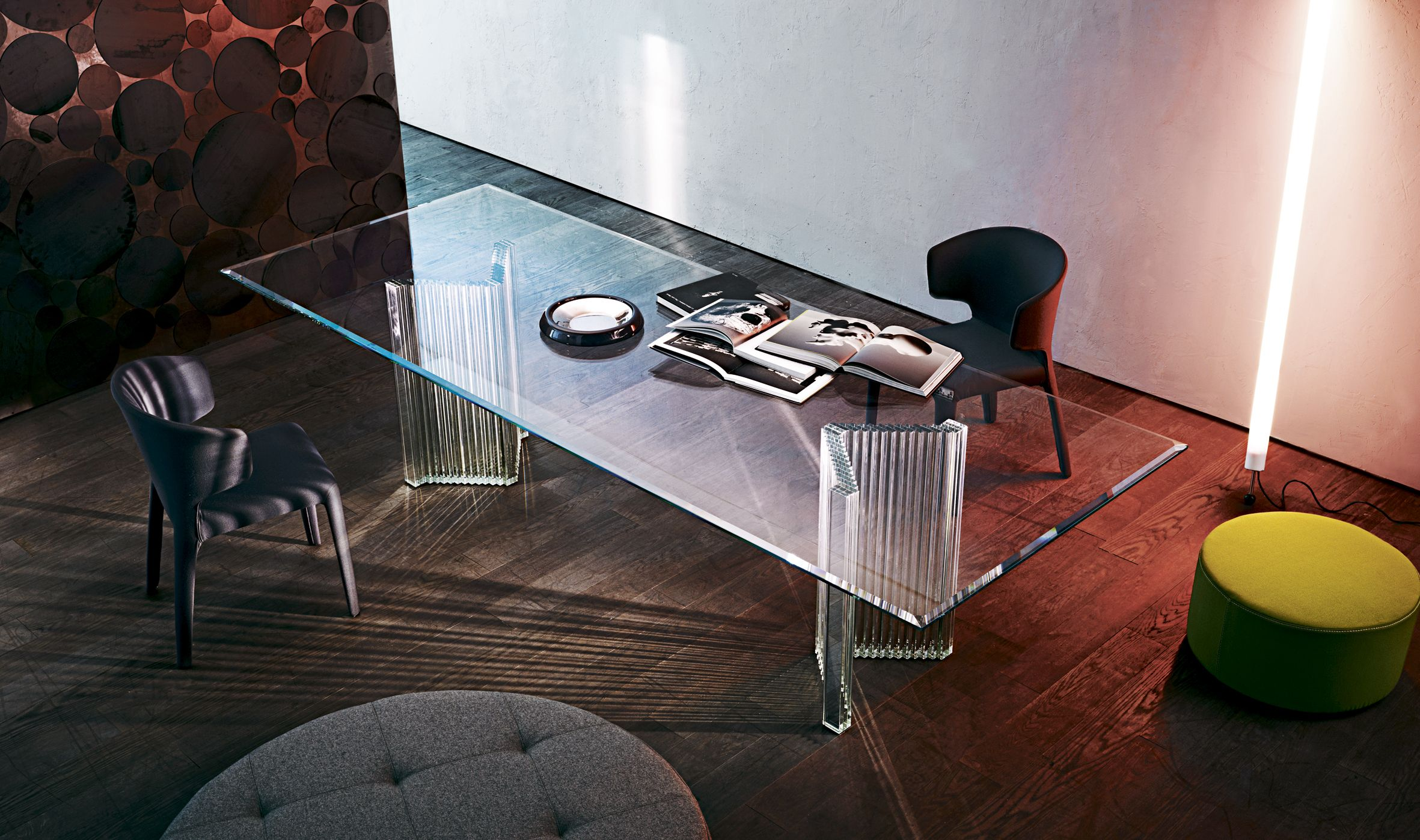 Sophia Mirrored Dining Table Collection Dining Table
