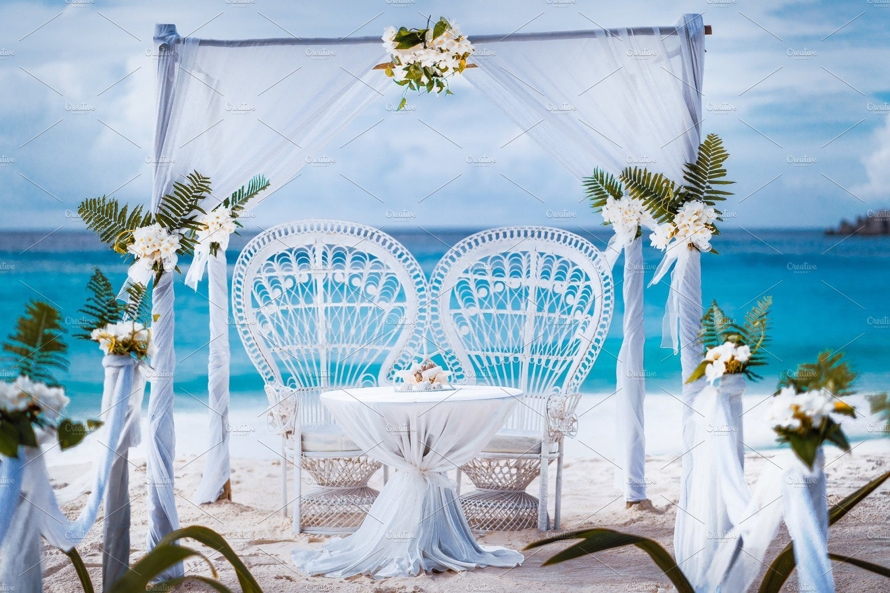 Beach Wedding Arch Gazebo Ceremonial Hochzeit
