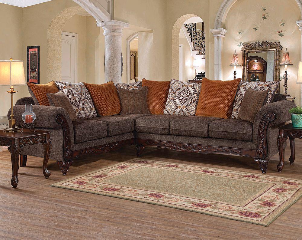 Gunslinger Bark 2 PC. Sectional Sofa | favorite furniture | Sofa ...