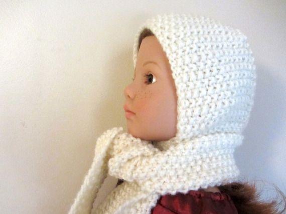 Ensemble bonnet et grosse écharpe blanc cassé pour poupée Happy Kidz de Götz 98bdd32deee