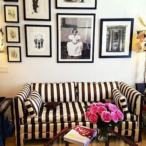 Carolina Herreras Office artwall gallerywall