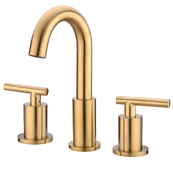 Trustmi 2 Handle 8 Inch Brass Bathroom Sink Faucet 3 Hole