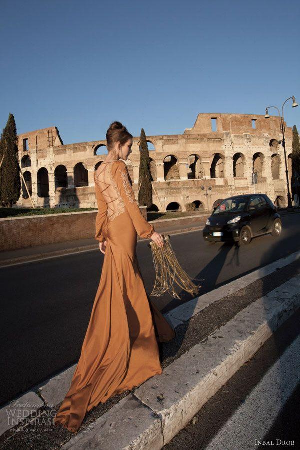 inbal dror color wedding dress