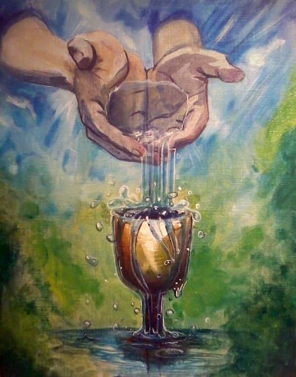 Image result for prophetic art overflowing anointing