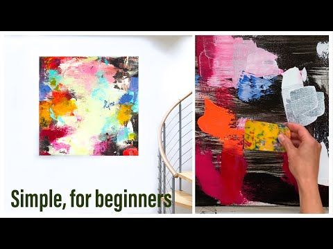 abstrakte Malerei, Acryl, easy, für Anfänger, Demo, Rakel