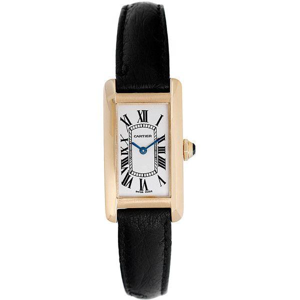 Pre-owned Cartier Lady's Yellow Gold Tank Americaine Quartz Wristwatch Ref W2601556