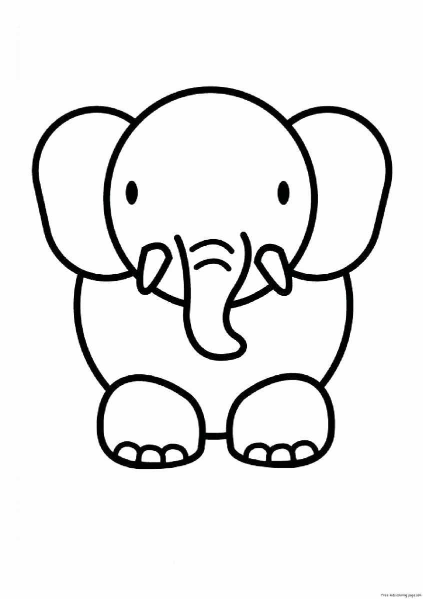 Animal Coloring Pages For Kids In 2020 Zoo Animal Coloring Pages Cute Easy Animal Drawings Cute Animal Drawings