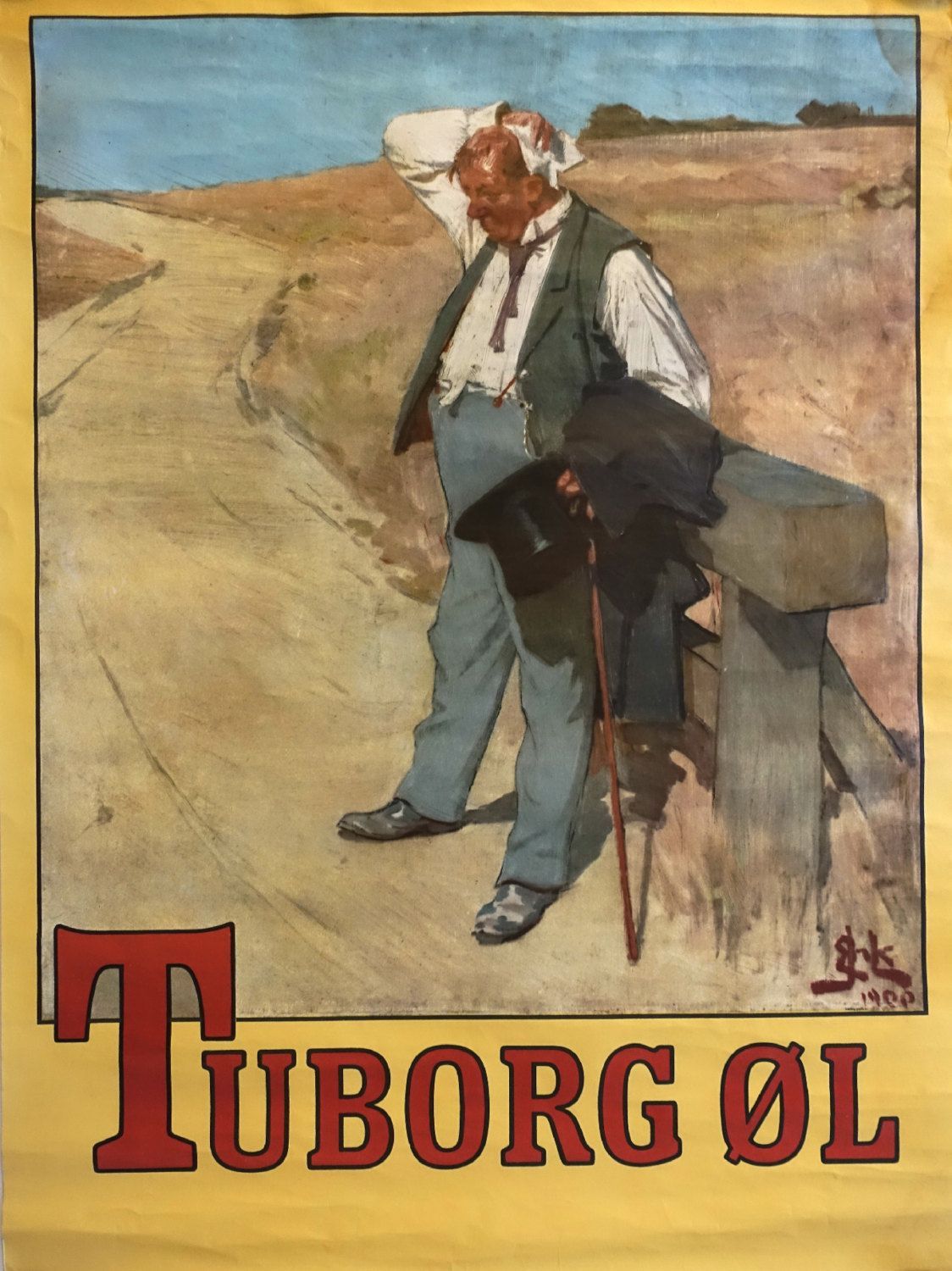 1970s Tuborg Beer Commercial The Thirsty Man By Outofcopenhagen Vintage Posters Beer Commercials Retro Advertising