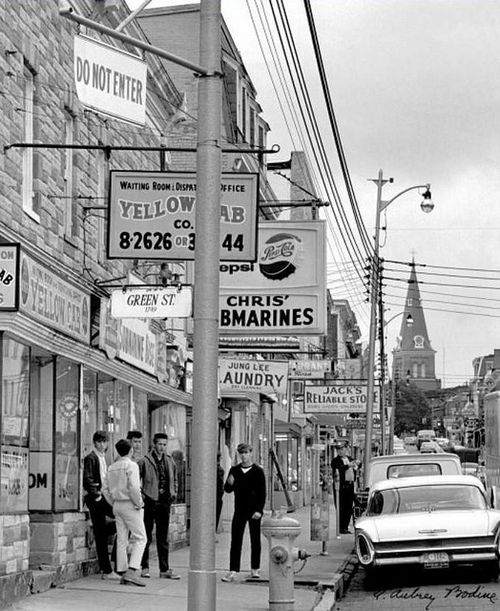 in 1965 when annapolis was about to clean up main streets jumble of poles wires and business signs famed photographer a aubrey bodine took a photograph