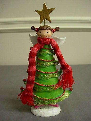 Dept 56 Cozy Christmas Tree Angel Figurine Small | eBay