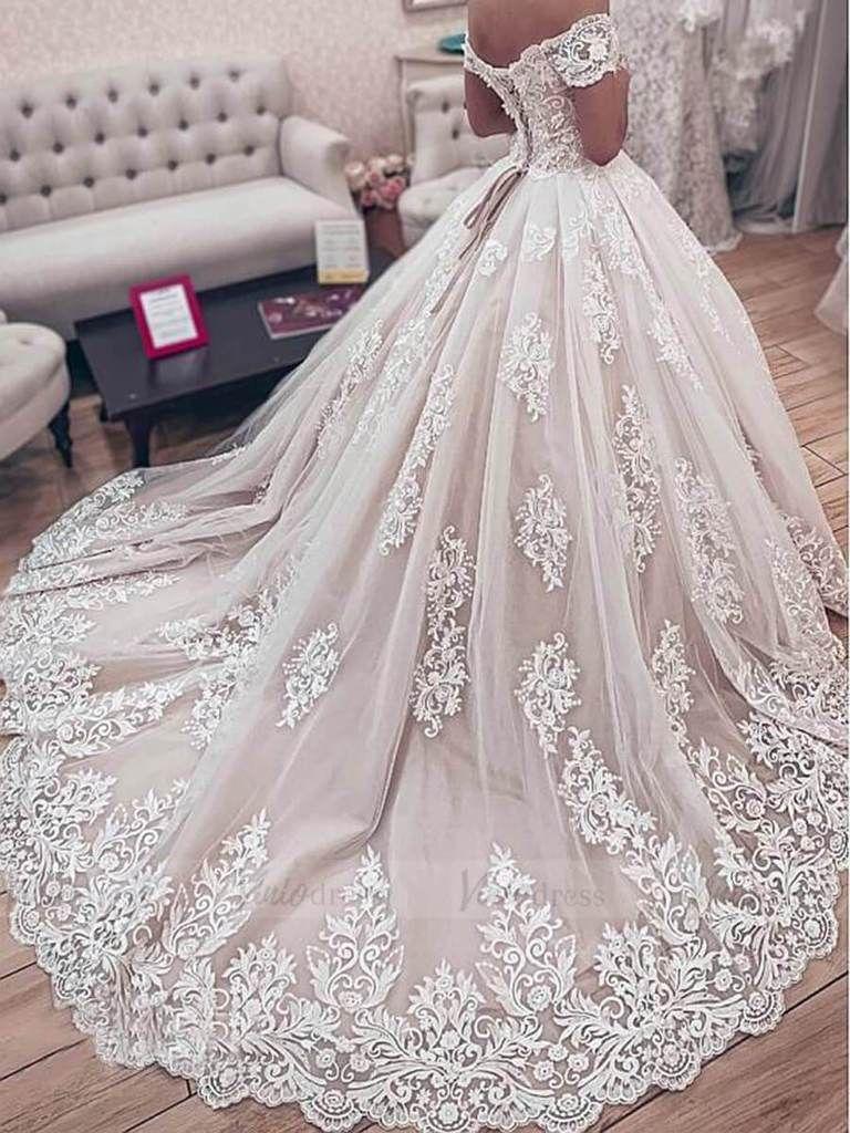 Vintage Lace Princess Wedding Dresses Off The Shoulder Wedding Gowns Vw1291 Ball Gowns Wedding Wedding Dresses Ball Gown Wedding Dress [ 1024 x 768 Pixel ]