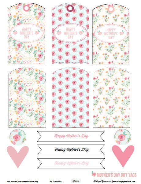free printable download floral mother 39 s day gift tags vintage glam free printable and floral. Black Bedroom Furniture Sets. Home Design Ideas