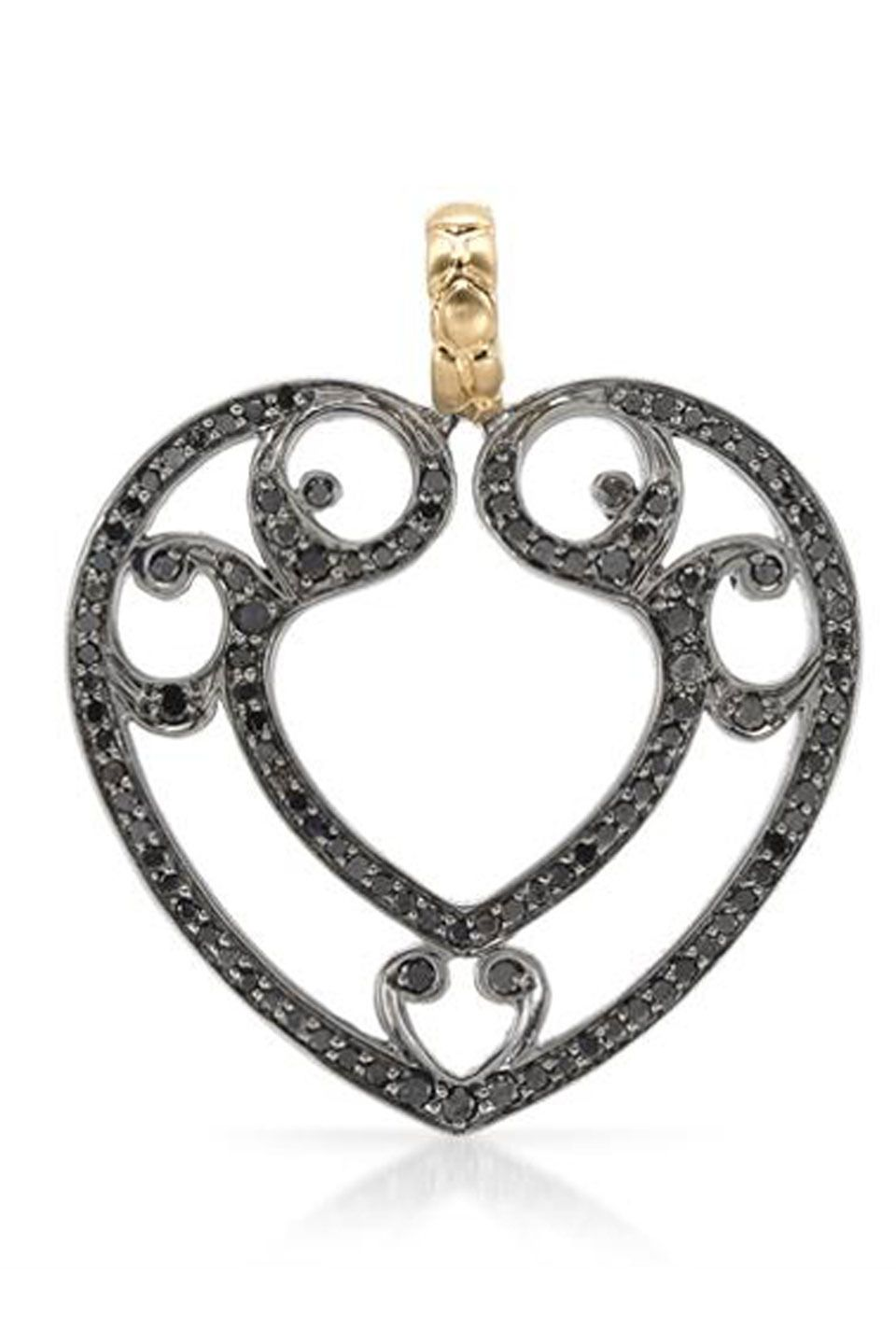 Hellmuth ct diamond gold and sterling silver pendant beyond