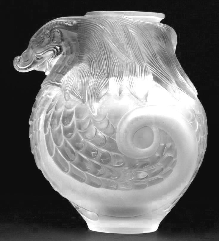 Lalique Crystal Satin Imperial Dragon Vase.......