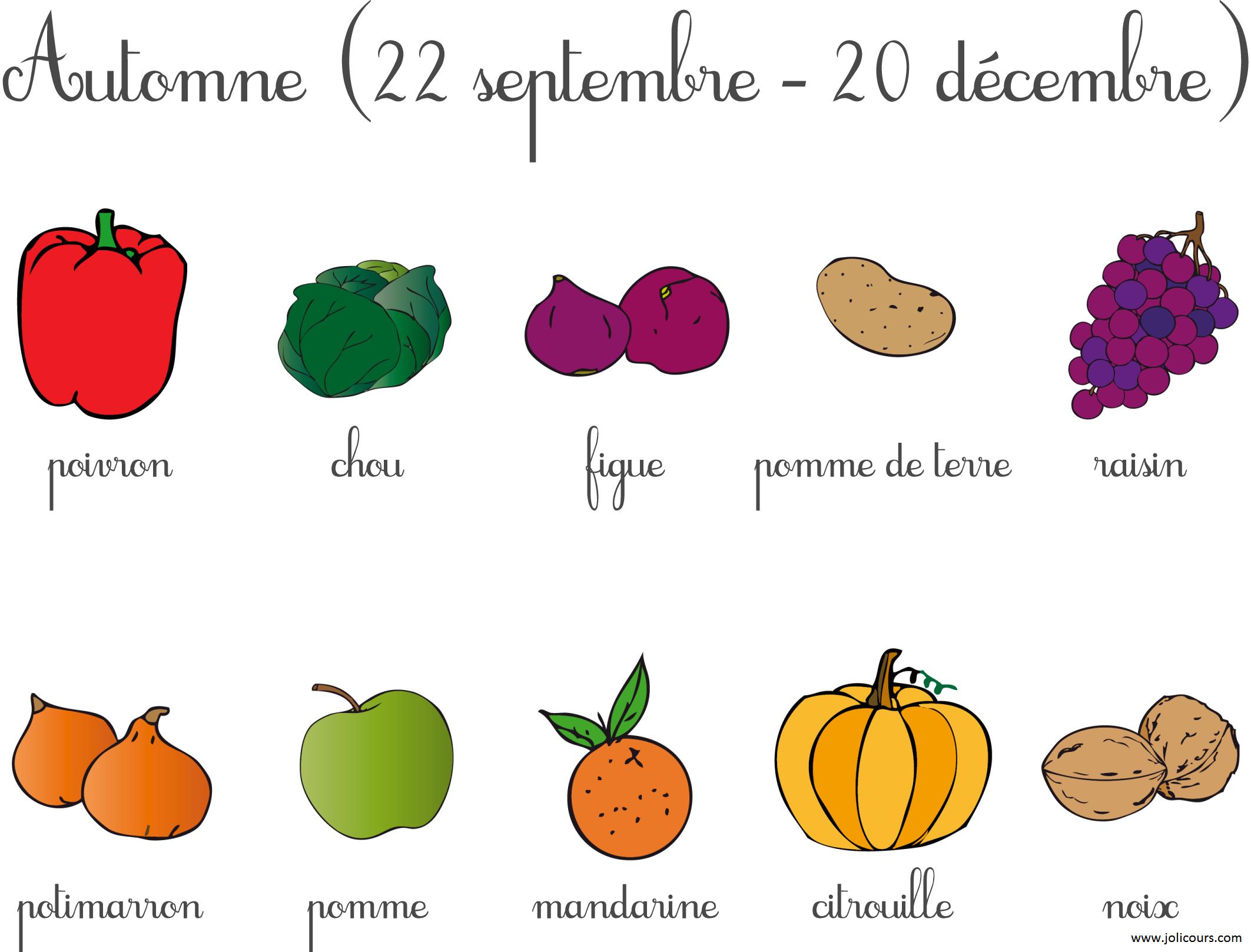 Fruits Et Légumes D Automne Légumes Automne Fruits Et