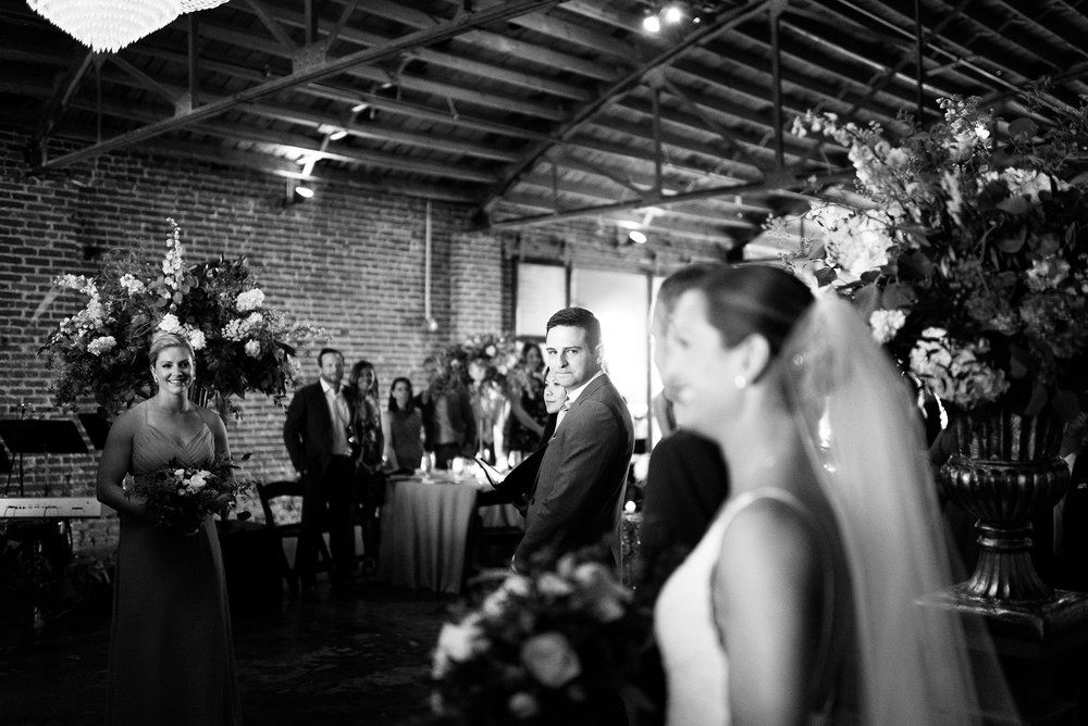 Adam & Alyssa Kansas city wedding, Indoor ceremony, Ceremony