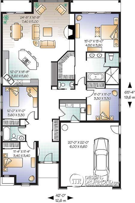 plan de maison 30 x 40
