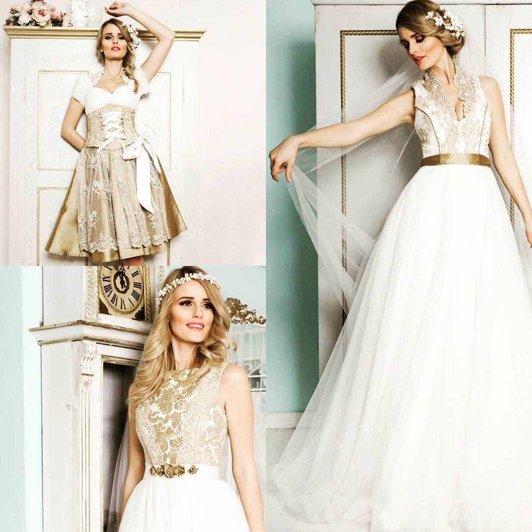 Tian van Tastique liebt Gold. Egal ob Brautdirndl oder Brautkleid ...