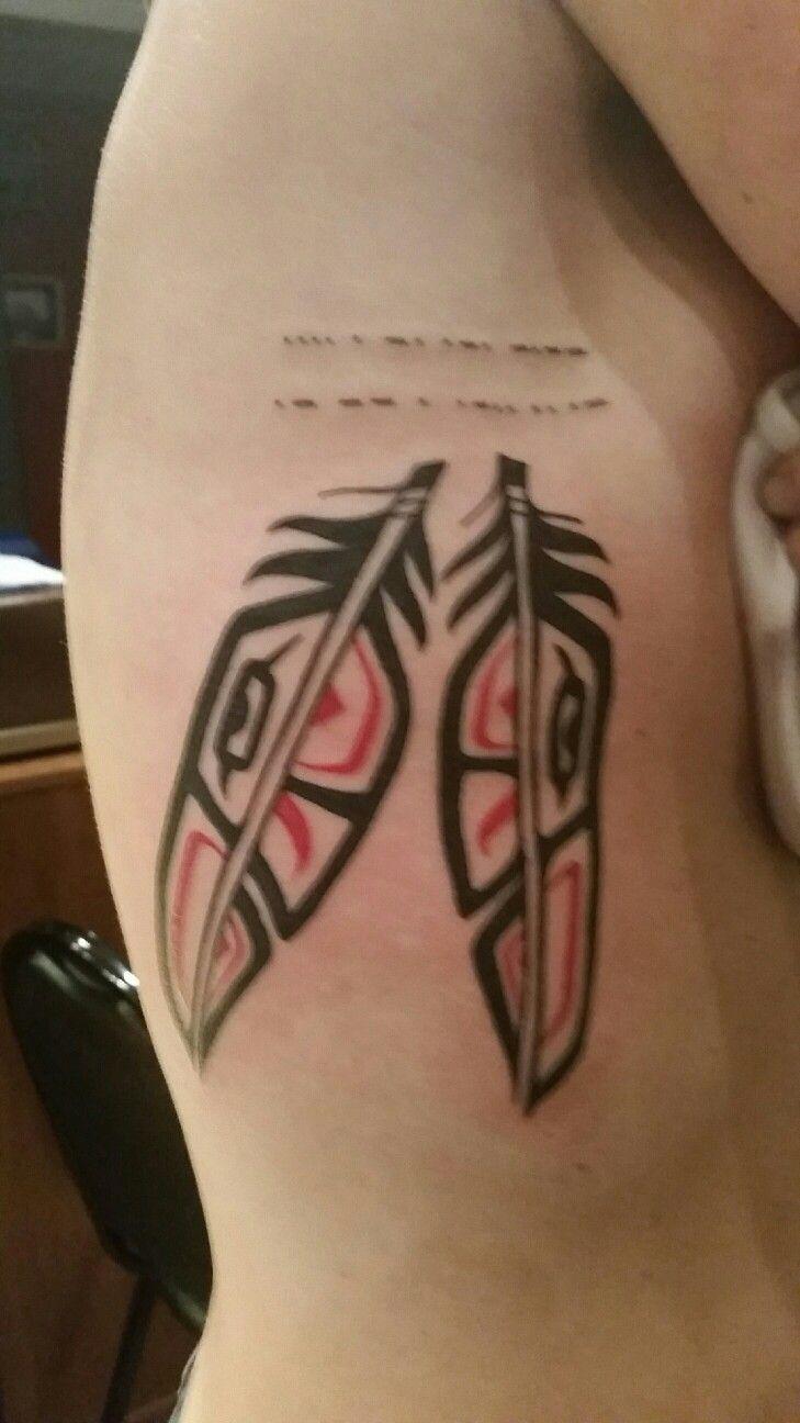 Garth Hixon Village Tattoo Romeo Mi Haida Tattoo Tattoo Styles Native Feather Tattoos