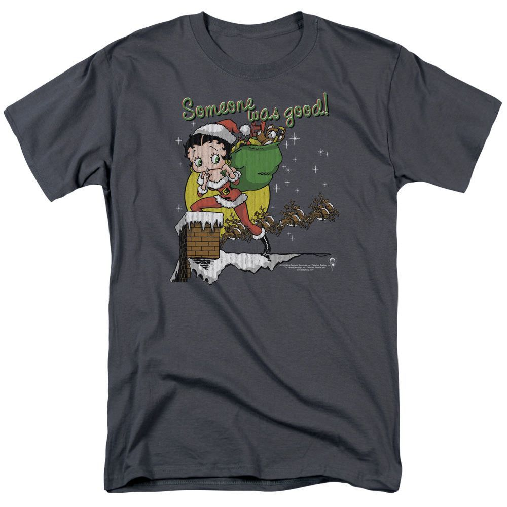 Betty Boop Chimney Charcoal T-Shirt