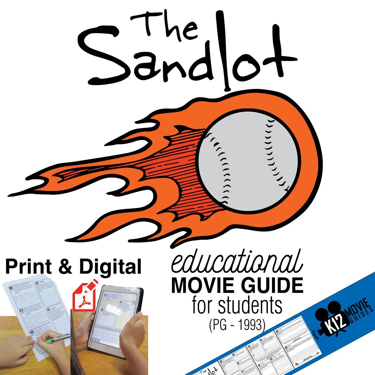 The Sandlot Movie Guide Questions Worksheet Pg