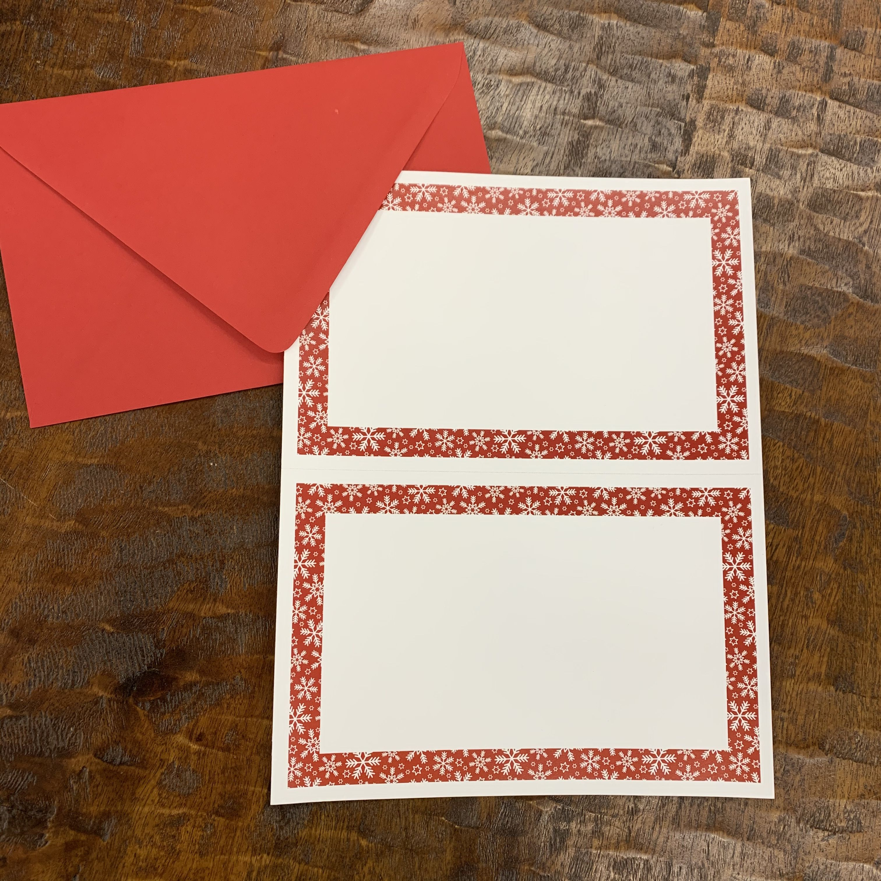2 Up Invitation Red Flakes 25 Sheets 50 Invitations Holiday Etsy Snowflake Invitations Holiday Invitations Invitations