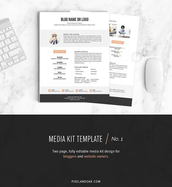 Media Kit Template No1 by Pixel  Oak on /creativemarket/ The
